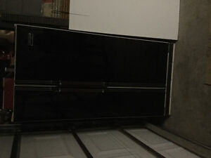 Black Side by Side fridge
