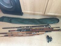 Selection of fishing rods