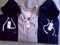 Ralph Lauren Classic Fleece Hoodie full zipper for Men - Small Pony Sweatshirt £25 each.