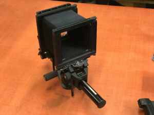 "Sinar F1 4 x 5"" camera with lenses, lens board, case"