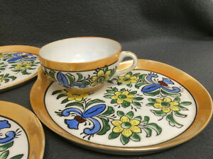 Collectible Antique Antique Hand Painted Cups & Plates London Ontario image 2
