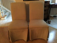 Upholstered Parson Dining room chairs