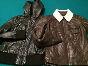 Lightweight fake leather jackets - $10 each