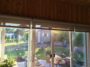 Custom window treatment, Roller Shades in Cassettes