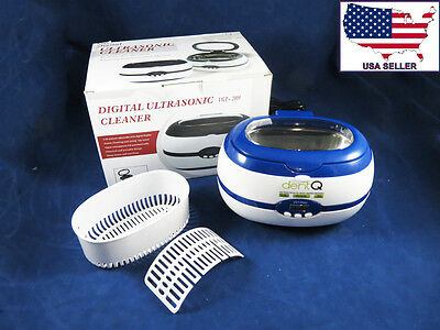 Dental Medical Jewelry Ultrasonic Cleaner Washer Digital 600 Ml 110v Dentq