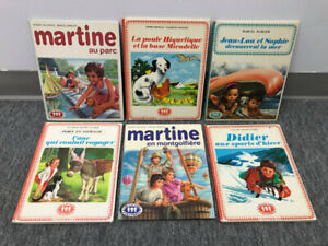 Lot livres 1973 Martine Jean-lou et sophie...collection frandole