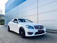 2012 62 Mercedes-Benz C250 CDI AMG Sport Plus Coupe + WHITE + Auto
