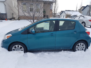 2013 Toyota Yaris in an unique teal colour