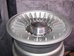 1973 CHEVY RARE PE1 TURBINE WHEELS AND CAPS MATCHING #S