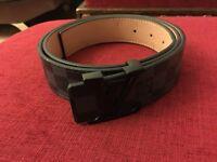 Louis vuitton belt graphite black buckle 34'