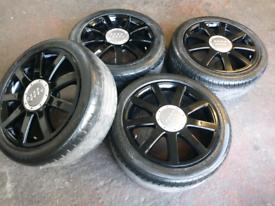 """18"""" Audi alloy wheels a4 a5 vw caddy golf ..5 x 112"""