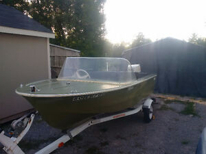 14Ft Kennedy craft boat, 50hp Johnson