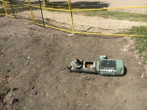 Wisconsin motor,Rockford clutch,and  electric motor