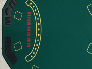 Deluxe Solid Wood Poker and Blackjack Table Top  with Case
