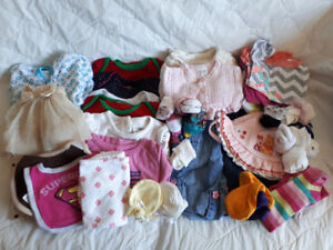 Assorted Girl's Clothing 25+ pcs.           Size 3-6 months