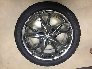 Kumho 23in Tires with Delta Chrome Plated Rims (Set of 4)