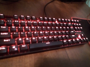 Mechanical keyboard and mouse red l.e.d