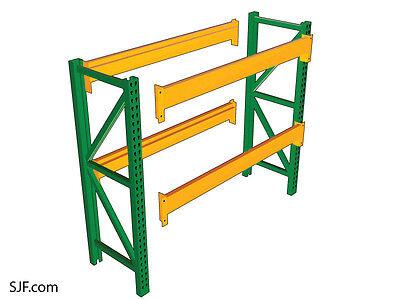 Used Pallet Rack Starter Kit - 48 D X 96 W X 120h