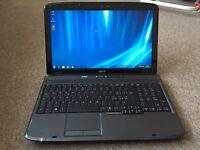 "Acer aspire 5535 15.6"" dualcore Windows 7 laptop"