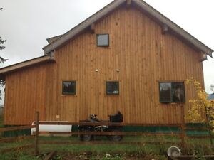 large efficient post and beam house with 160 acres for sale/rent Prince George British Columbia image 2