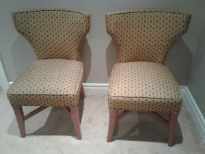 Retro accent chairs