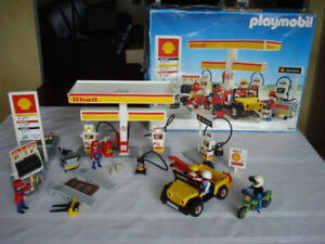 """"""" PLAYMOBIL """" garage """" SHELL """",  1980's ( Allemagne )"""