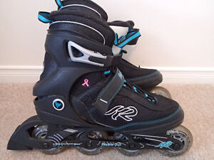 Women's Size 9 RollerBlades. Slightly used and in perfect shape