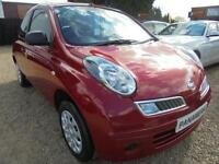 2010 10 NISSAN MICRA 1.2 VISIA 3D 80 BHP NEW SHAPE MODEL LOW MILEAGE ONLY 44K MI