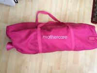 Mothercare travel cot in Pink