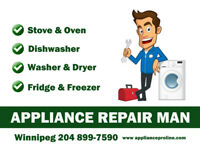 Appliance Repair and Installation MAN in Winnipeg
