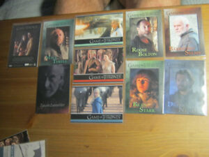 12 card Game of Thrones Lot - Promos, Parallels various sets