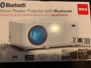 rca bluetooth projector with wall mount and 72inch screen
