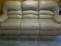 Great Condition Furniture! Leather Recliner, Couch, Bookshelves+