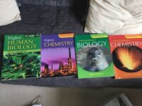 Biology and chemistry books. Great condition