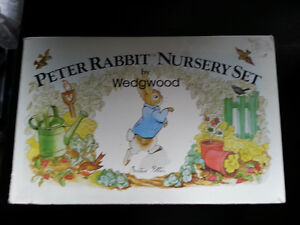 Peter Rabbit 3 piece Nursery Set by Wedgwood - New in Box