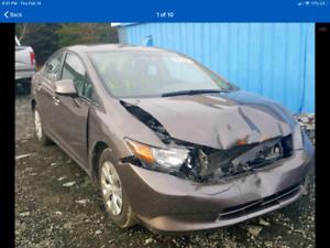 2012 HONDA CIVIC 4DOOR AUTO 135000kms 2995$@902-293-6969