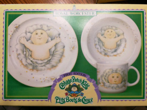 Royal Worcester - Cabbage Patch Kids - First Edition - 3 PC Set