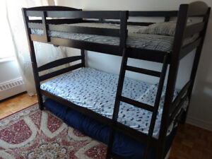 Kids Bunk bed with two foam mattress. Turn to two separate beds.