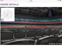 Floorside seats x2 Picture of actual view from your seating row. £350 pound per ticket
