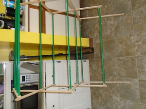 wooden fold out clothes dryer