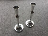 2 Silver-Plated Candlesticks - Brand new
