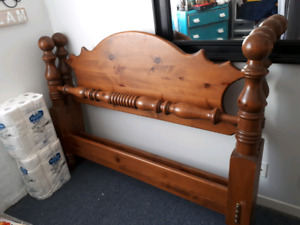 Queen size Solid wood head and foot boards