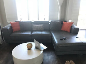 Bonded leather sectional for immediate sale!