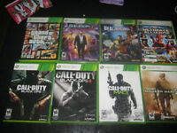 xbox 360 games (prices vary)