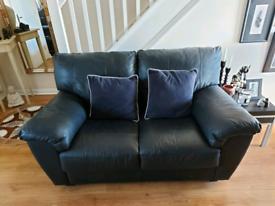 Modern 2 seater leather sofa