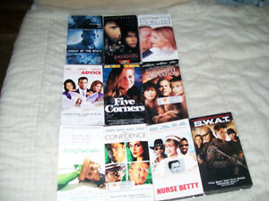 (VIEW ALL 3 PICS) 20 VHS'S FOR SALE & CD 10 CASES LOT,GREAT DEAL