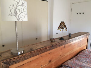 Upcycled (recycled) kingsized bed frame
