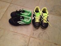 2 pair of boys size 12 soccer kleats