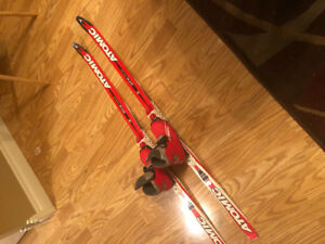 Cross country skis and boot youth