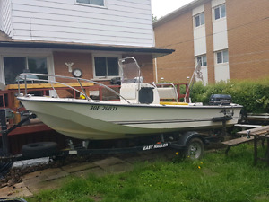 17 foot center console boat
